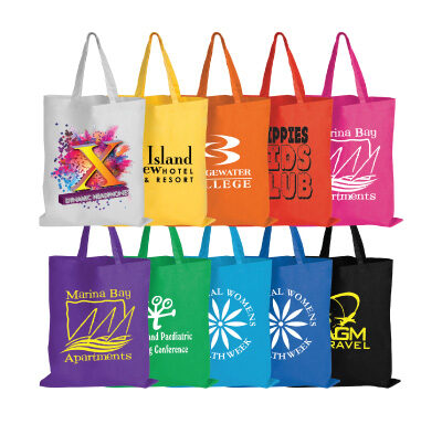 Coloured Cotton Bags – Short Handle LL509