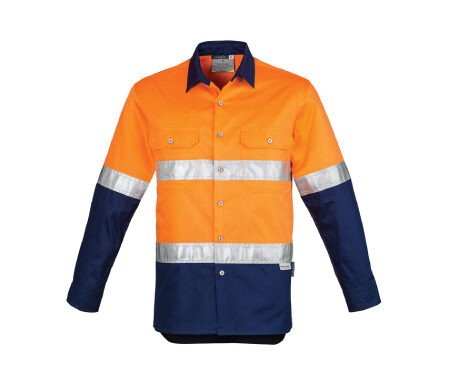 Syzmik Hi Vis Spliced Industrial Shirt With Reflective Tape ZW123