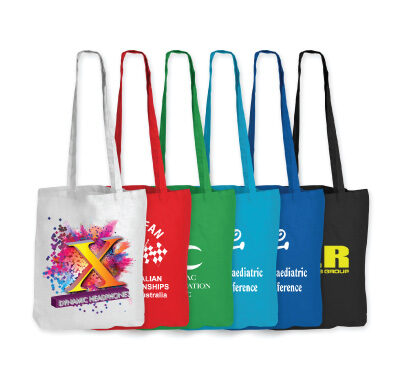 Coloured Cotton Bags – Long Handle LL510
