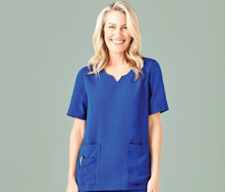 Tailored Fit Round Neck Scrub Top CST942LS