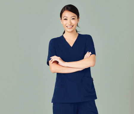 Easy Fit V-Neck Scrub Top CST941LS