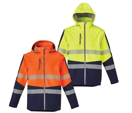 Syzmik Unisex 2-in-1 Stretch Softshell Taped Jacket ZJ453