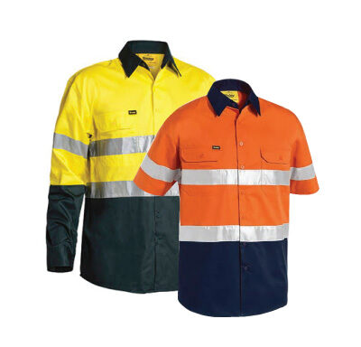 Bisley 3M Taped Two-Tone Hi Vis Cool Lightweight Shirt BS6896