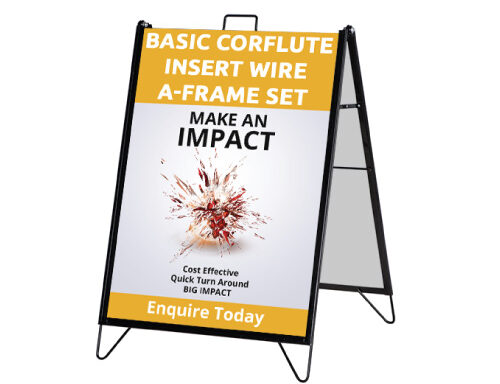 Basic Corflute Insert Wire A-Frame Set