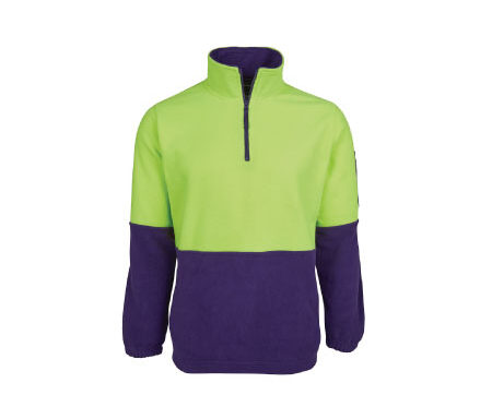 JB's Hi Vis 1/2 Zip Polar Fleece 6HVPF