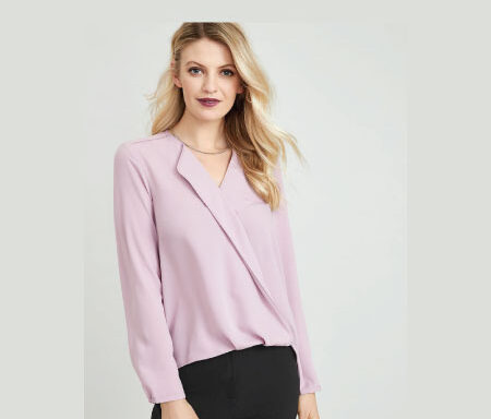 Lily Ladies Hi-Lo Blouse S014LL