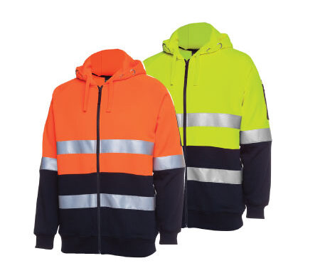 JB's Hi Vis Fleecy Hoodie With Tape 6DNH