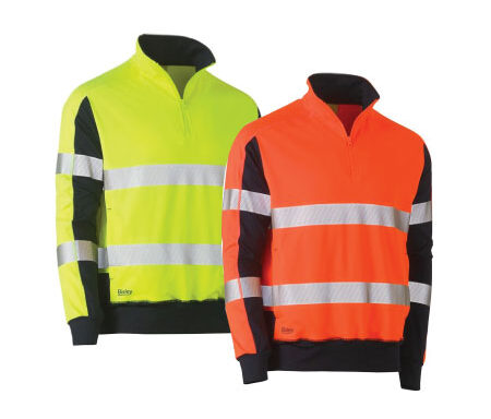 Bisley Taped Hi Vis Stretchy Fleece Pullover BK6817T