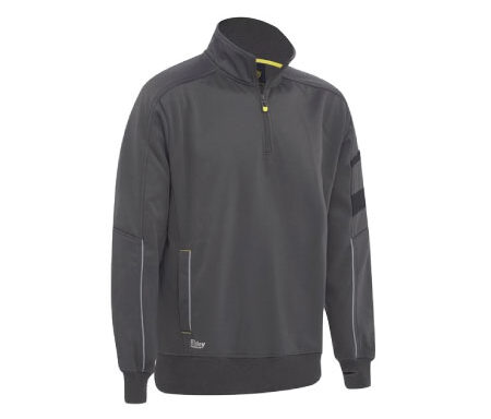 Bisley 1/4 Zip Work Fleece Pullover BK6924