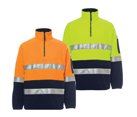 JB's Hi Vis (D+N) 1/2 Zip Polar Fleece 6DNPF