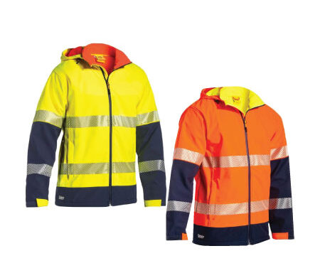 Bisley Taped Two-Tone Hi Vis Ripstop Softshell Jacket BJ6934T