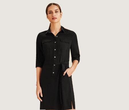 Chloe Georgette Shirt Dress RD069L