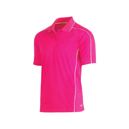 Bisley Cool Mesh Polo with Reflective Piping BK1425