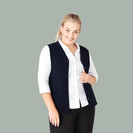 Women's Button Front Knit Vest CK961LV