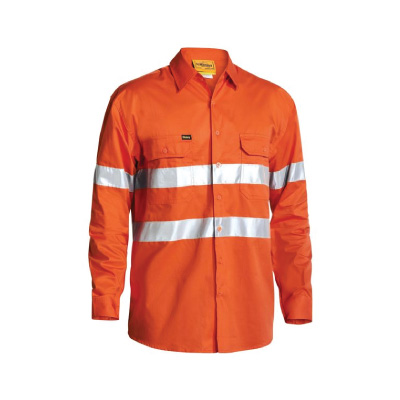 Bisley Cool Lightweight Gusset Cuff Hi Vis Shirt with 3M Reflective Tape BS6897