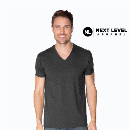 Men's CVC V-Neck T-Shirt NL6240