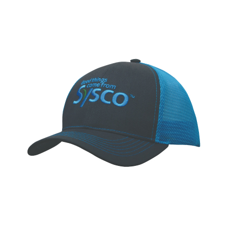 Brushed Cotton with Mesh Back Cap 4002