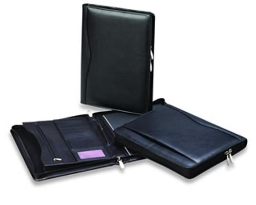 A4 Genuine Leather Superior Zip Compendium WC613