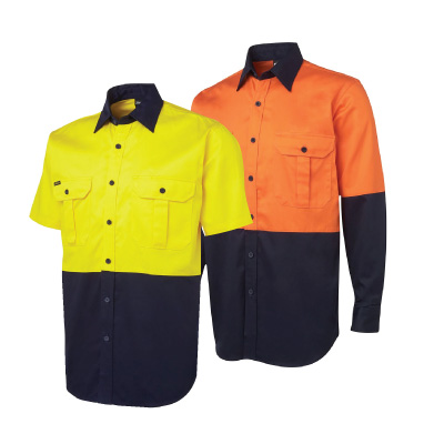 JB's Hi Vis 190g Work Shirt 6HWL