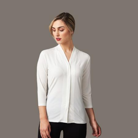 Ladies' 3/4 Sleeve Isabel Knit Top M8830