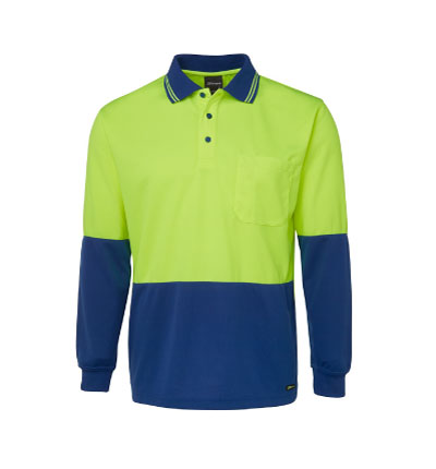 JB's Hi Vis Traditional Long Sleeve Polo 6HVPL