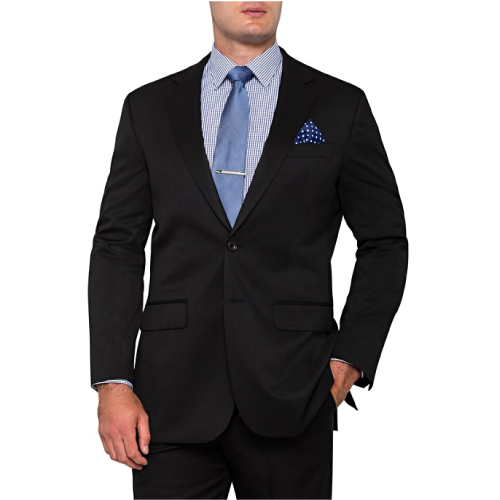 Bracks Men's Single Breasted Two Button Plain Twill Jacket JKTMM124