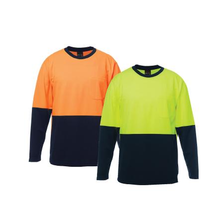 JB's Hi Vis Traditional Long Sleeve T-Shirt 6HVTL