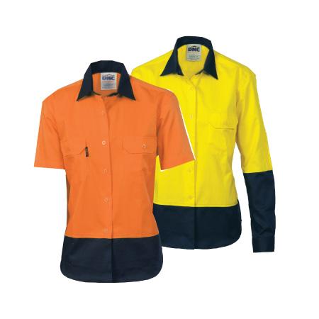 DNC Ladies' Two-Tone Drill Shirt 3931