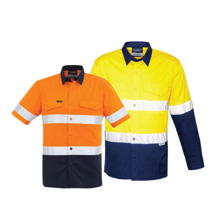 Syzmik Rugged Hi Vis Drill Shirt with Reflective Tape ZW835