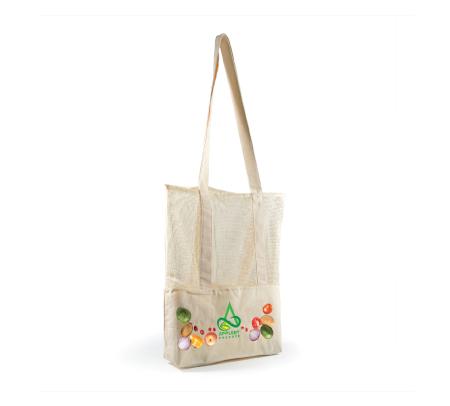 Scoot Calico/Mesh Tote Bag LL528