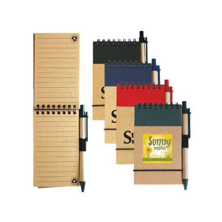 Tradie Cardboard Notebook with Pen LL8334