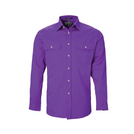 Ritemate Pilbara Open Front L/S Shirt RM500BT