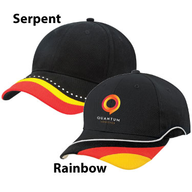 Rainbow & Serpent Caps 3965