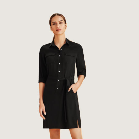 Chloe Georgette Shirt Dress RD069L