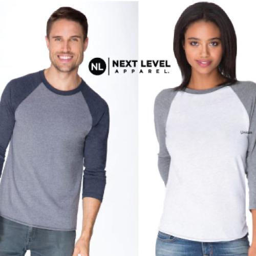 Unisex Tri-Blend 3/4 Raglan T-Shirt NL6051