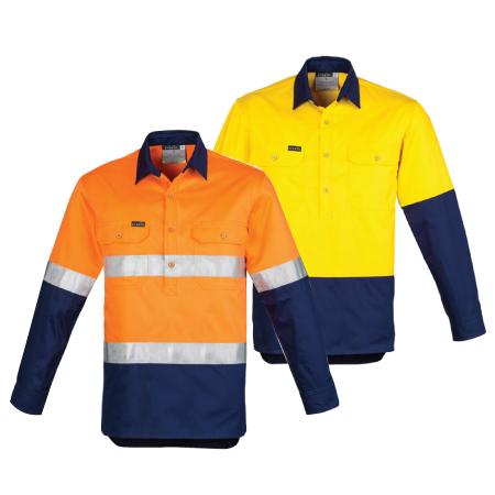 Syzmik Hi Vis Closed Front Shirt ZW550