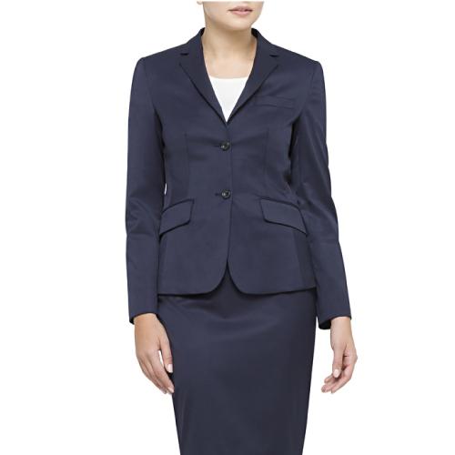 Bracks Women's Single Breasted Two Button Plain Twill Jacket JKTW124