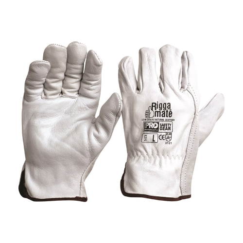 Riggamate Natural Cowgrain Gloves (12 PACK) CGL41N
