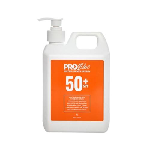 Probloc SPF 50+ Sunscreen 1L Pump Bottle SS1-50