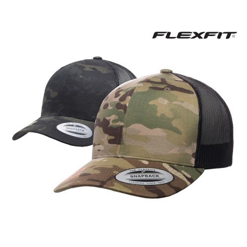 Flexfit Camo Retro Trucker Cap 6606MC