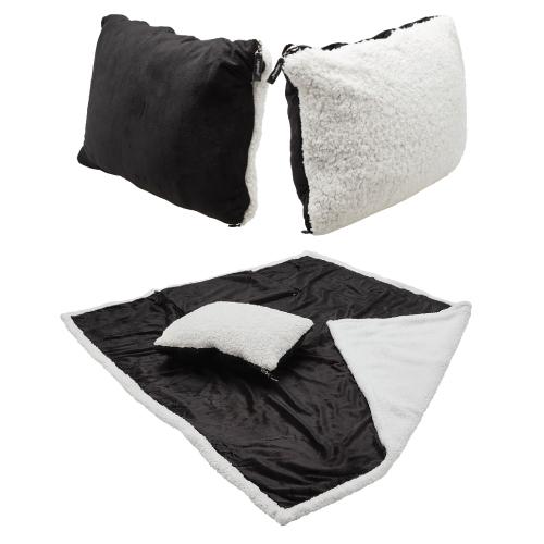 Sherpa 2-in-1 Pillow Blanket J260