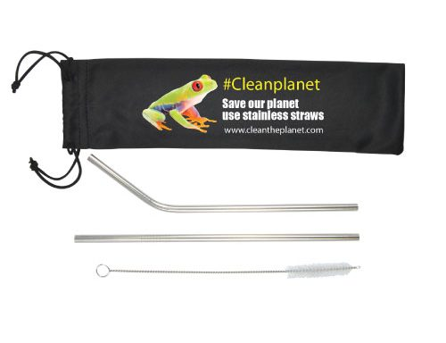 Stainless Steel Straws in Pouch LL8781